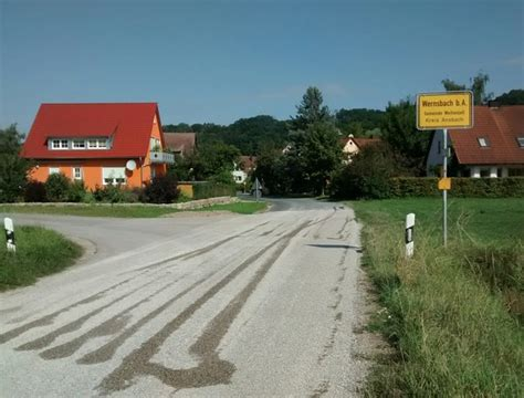 wernsbach bei ansbach ortseingang wernsbach mgrs 32upv1667 geograph