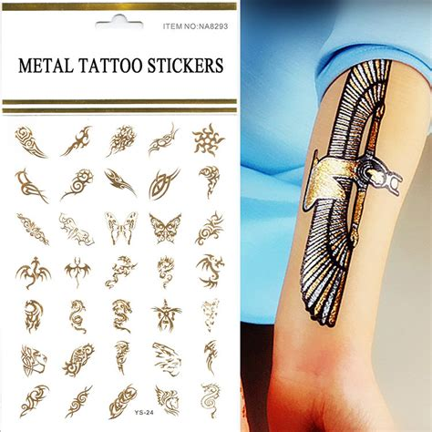 cheap tattoo ideas for men wholesale 1pcs lot gold silver 3d butterfly tattoos