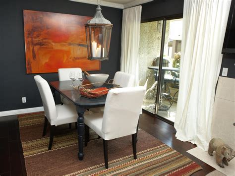 dark gray dining room photo page hgtv