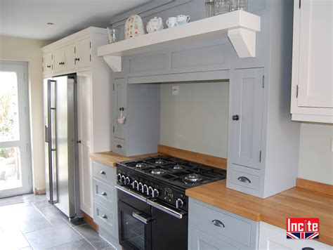 bespoke custom made painted fitted kitchens incite derby bespoke handmade painted shades of grey and oak kitchen