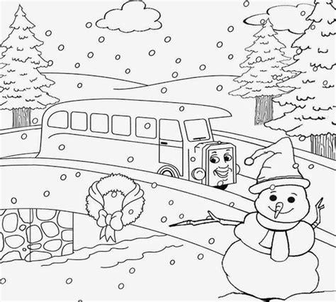 winter landscape coloring pages colorings net