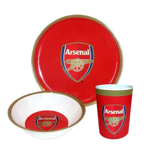 arsenal kitchen arsenal fc 3 piece melamine dinner set buy online in uae