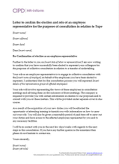 Letter To Employee Confirming Tupe Transfer Managing Tupe Hr Inform