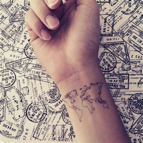 47 world map 68 dainty and feminine tattoos