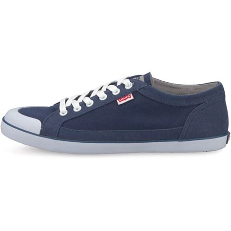 levis canvas mens shoe blue footwear shoes navy all sizes