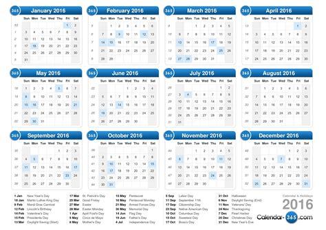 2016 yearly planner ireland 2016 calendar