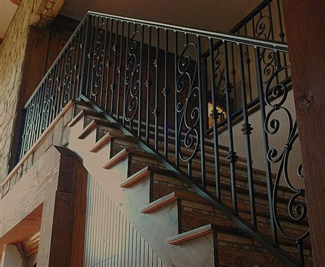 wrought iron stair railing staircase railings custom design wrought iron staircase rails there s no place like home
