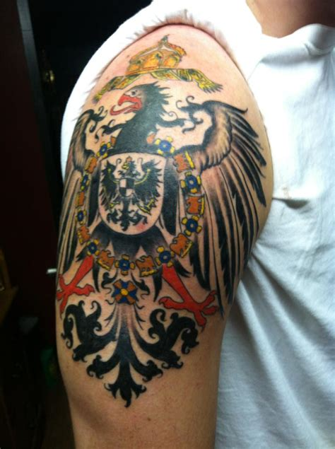 german tribal tattoo finished 1890 s german imperial eagle jonathan roach