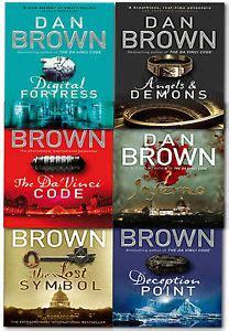 the lost symbol series 3 dan brown robert langdon series 6 books collection set