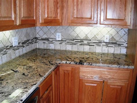 travertine kitchen backsplash ideas 4x4 travertine with glass border backsplash designs for
