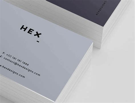 hex hex card template hex business card print template