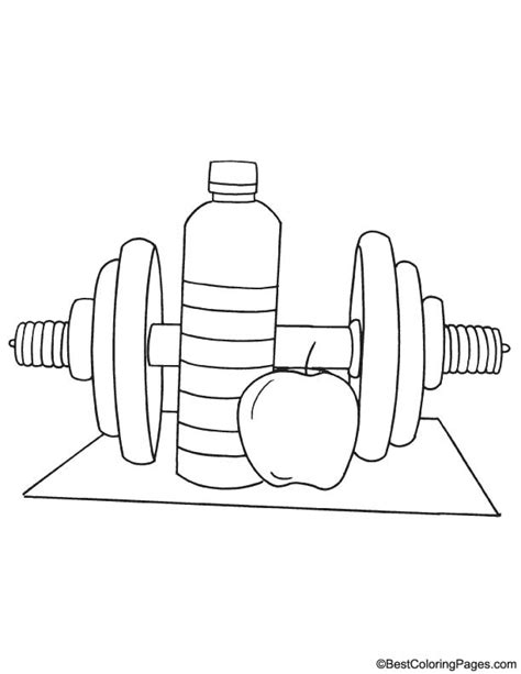 Free Coloring Pages Of Fitness Fitness Coloring Pages