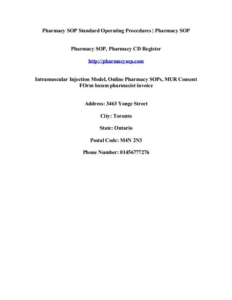 pharmacy standard operating procedures template locum pharmacist invoice template invoice exle