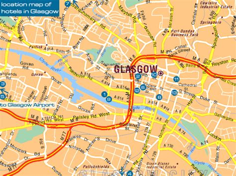 printable map glasgow city centre maps map of europe glasgow