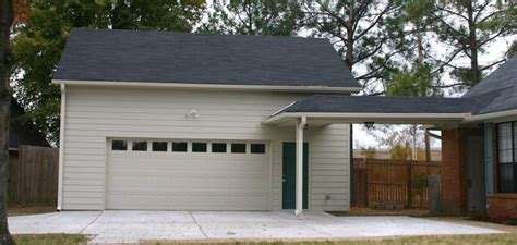 covered garage covered walkway from detached garage to house new home