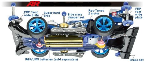 Tamiya Casis Ar tamiya 18706 mini4wd starter pack aero avante telaio ar