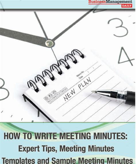Corporate Meeting Minutes Template Free