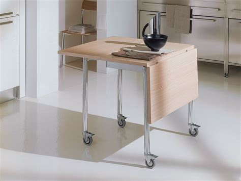 tavoli con ribalta tavolo a ribalta con ruote flash by bontempi casa