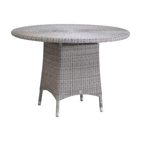 table de jardin ronde diam 232 tre 110 cm en r 233 sine tress 233 e