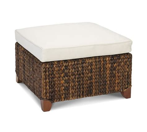 pottery barn ottoman seagrass sectional ottoman pottery barn
