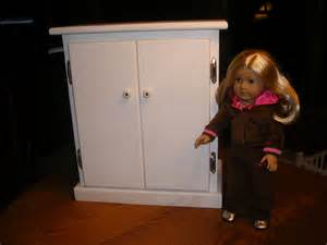Armoire With Hanging Rod 18 Inch Doll Armoire Wardrobe For American Doll By