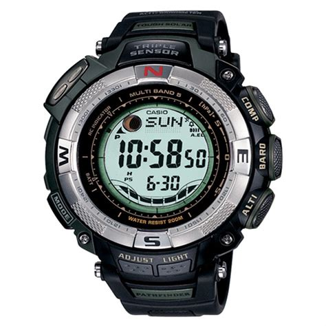 s casio 174 pathfinder solar atomic with moon