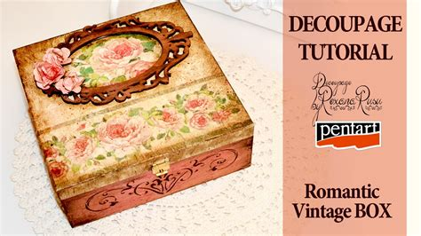 What Can You Decoupage - decoupage tutorial vintage box