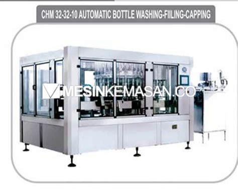 Mesin Filling Botol Otomatis mesin cuci isi tutup botol otomatis 32 nozzle mesin