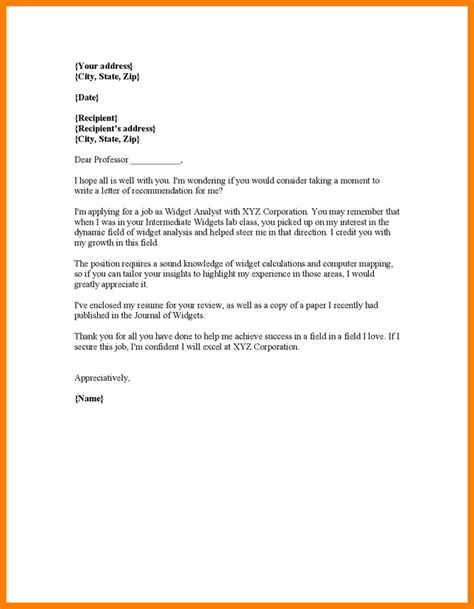 Reference Letter Request Exle request college letter of recommendation 28 images sle