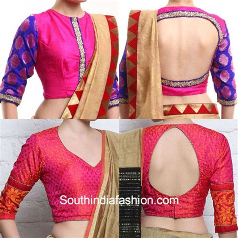 net blouse pattern 2015 latest brocade blouse designs for silk sarees south india