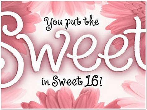 Sweet Sixteen Birthday Quotes Image Gallery Happy Sweet 16