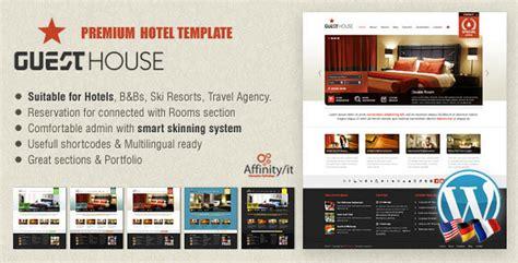hotel theme themeforest guesthouse hotel b b or csite themeforest theme