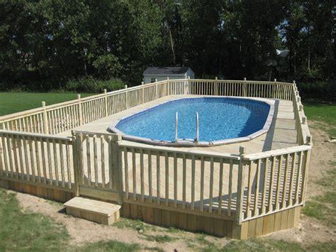 pool decks wood composite above ground pool decks in buffalo ny