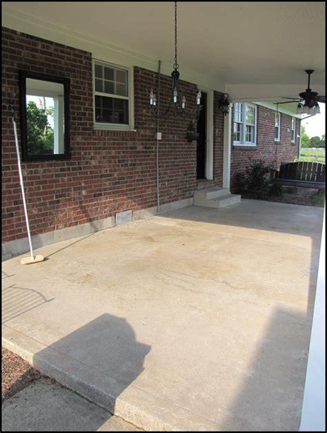 stained concrete patio new tile patio floor reveal beneath my