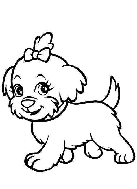 cute dog coloring pages    print