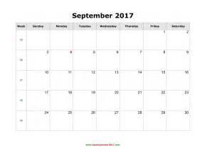 Printable Calendar August 2018 Blank Calendar For September 2017