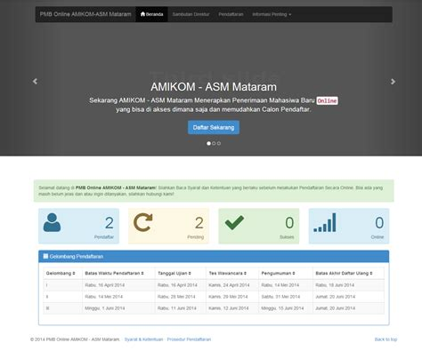 Aplikasi Hrd Web Base aplikasi web based untuk pmb amikom asm mataram versi 2014 berbagi bersama