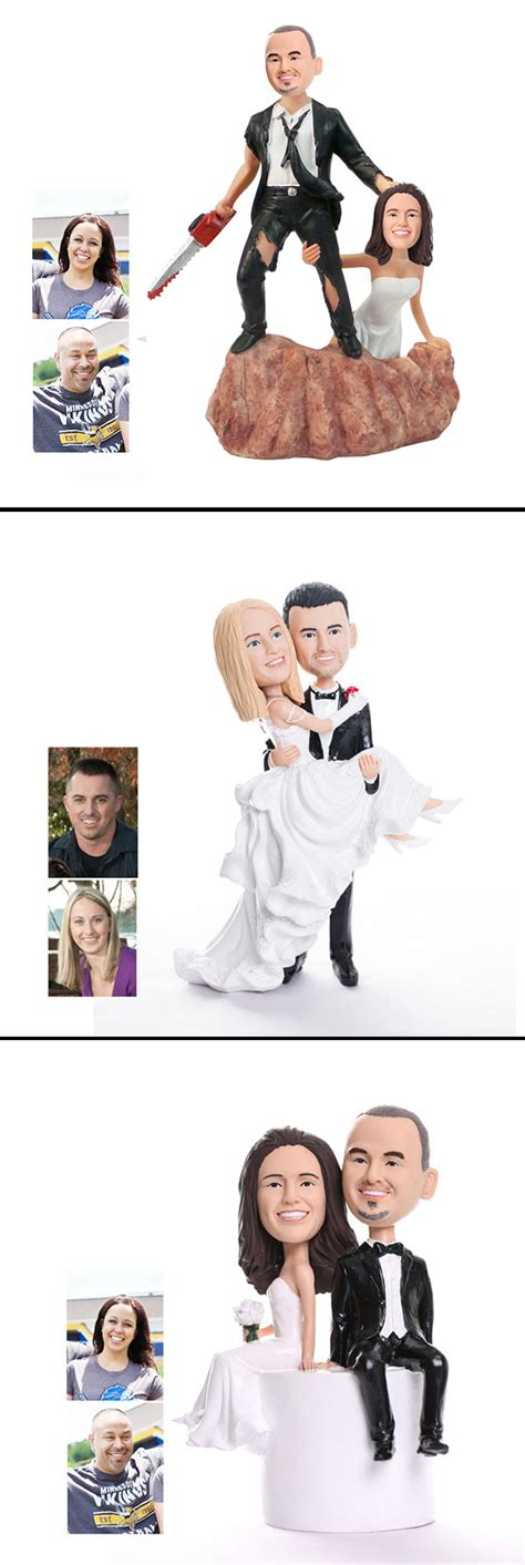 bobblehead cake topper custom bobbleheads for wedding cake toppers unique autos