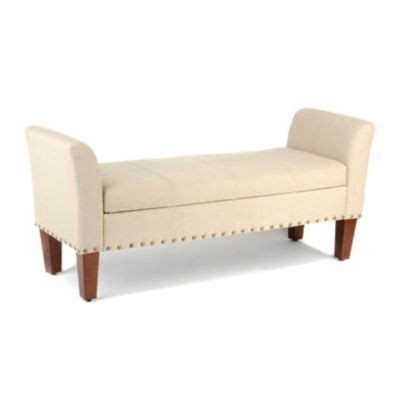kirklands storage bench ivory linen storage bench kirkland s furniture pinterest