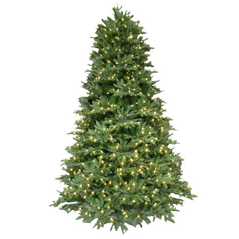 pre lit trees with led lights 7 5 ft pre lit led balsam fir artificial tree