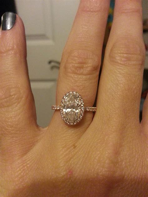 Finally found the perfect oval ering 2  carat rose gold