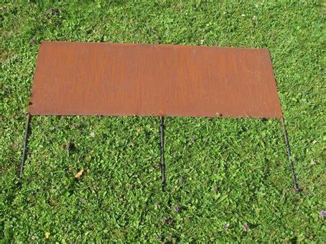 beeteinfassung metall rost edelrost beeteinfassung aus 2 mm stahl garden