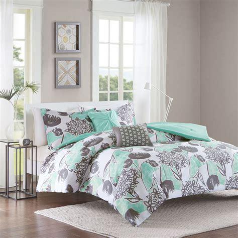 ocean bed set beautiful modern chic teal aqua blue grey beach ocean comforter set pillows ebay