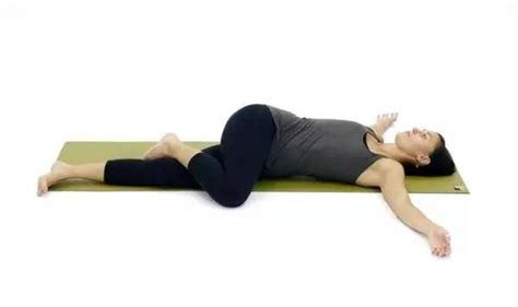 reclining twist pose do this movement every night before going to bed your