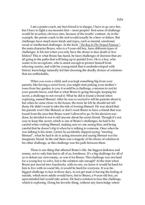 Boy Essay by Boy In The Striped Pyjamas Essay Co
