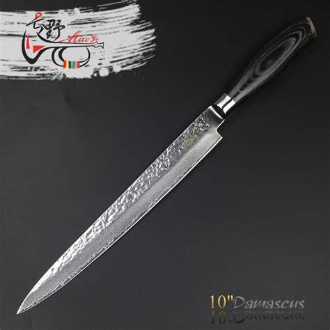 haoye 5 piece damascus kitchen knives set japanese vg10 haoye 10 quot cleaver damascus sushi sashimi slicer japanese