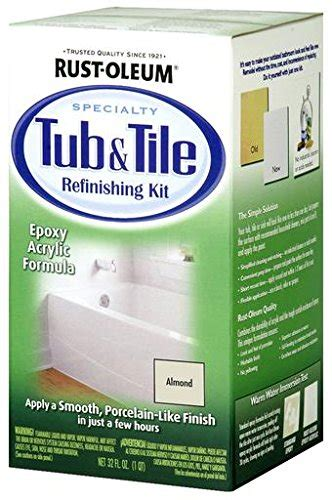 rustoleum bathtub refinishing kit reviews rust oleum 7861519 tub and tile refinishing 2 part kit