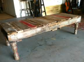 Coffee Table With Pallets Home Made Repurposhed Pallet Coffee Table Homejelly