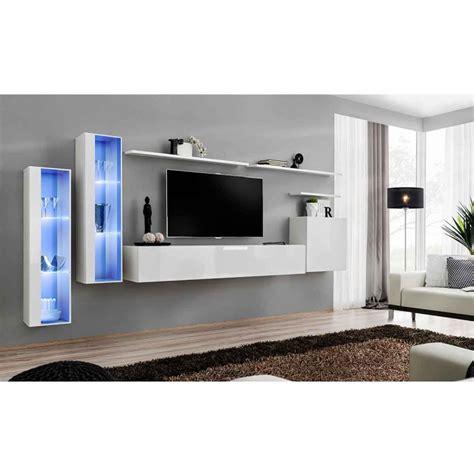 Meuble Tele D Angle 192 by Meuble Tv Mural Design Quot Switch Xi Quot 330cm Blanc