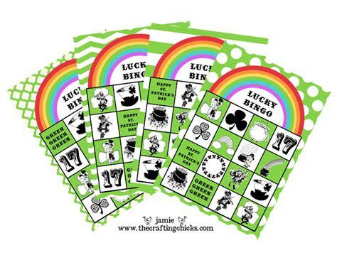 day bingo st s day lucky bingo free printables the